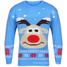 15CSU066 2017 lady cute reindeer face new christmas sweater