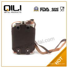 climb hill hip flask leather bag