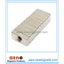 Stable Strong Block Magnet Hole 4mm Rare Earth NdFeB Magnet