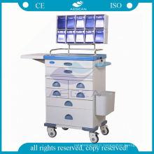 Médicament pour le chariot d'anesthésie d'acier de station de travail mobile d'infirmière