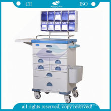 Medication for nurse mobile workstation steel anesthesia trolley