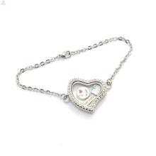 Encantos encantos pulseira para a menina, moda atacado flutuante memória moeda medalhão pulseira