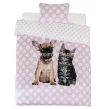 Εκτύπωση 100% Polyester Duvet Covet Dog & Cat