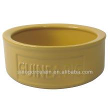 Cerâmica Color-glazed animal de estimação tigela de alimentação para porco para BS131118A