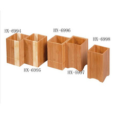 Factory price bamboo tableware box wood utensil holder