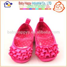 Kids Fancy Party Girls Chaussures roses pour bébé MOQ300