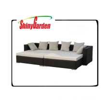 leisure outdoor wicker rattan set,rattan day bed,used rattan sofa for sale