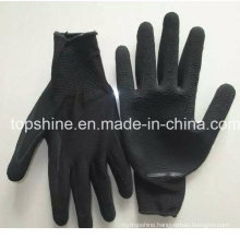 China Factory Industrial Labor Latex Coated Protective Safety Working Gloves