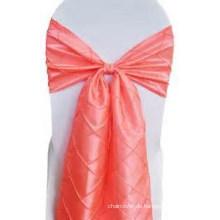 dekorative und schöne Taft Pintuck Stuhl-Schärpe, Stuhl Bogen für Hochzeits-Bankett