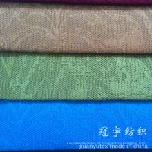 Teste padrão de flor do poliéster e do nylon da tela de veludo de algodão gravado para o sofá
