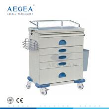 AG-AT018 Powder coating steel hospital movable used medication carts