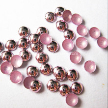 Parche redondo metálico Nailheads rosa 6mm