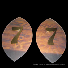 Sinal acrílico da porta, sinal acrílico do número da sala, número da porta feito em Shenzhen