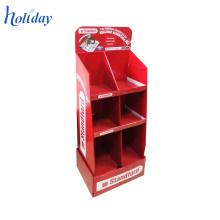 Présentoir de plancher de carton au détail pour l'épicerie