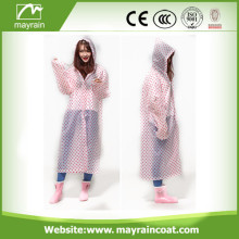 Fashion PVC Raincoat with Dots