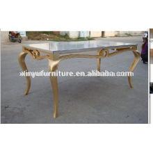 Soild mesa de comedor de madera de eventos D1009