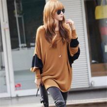 Koreanisches Design Frauen beiläufige lose Batwing T-Shirt (50028)