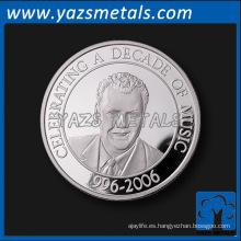 Moneda de plata del recuerdo de encargo