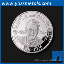 Moeda de prata personalizada de lembrancinha