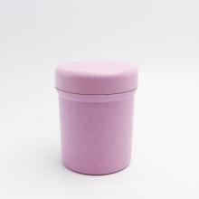 biodegradable 8oz 250g jar pink eco-friendly wheat straw pill capsule jar PLA-149AN