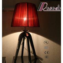 Lámparas decorativas de tela roja Dormitorio Dormitorio
