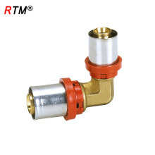 J17 4 hydraulic pipe fitting reducing elbow press fitting