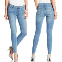 2017 Femmes Mode Skinny Denim Pantalon Coton Dames Jeans