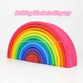 Blocos de construção do arco-íris de silicone blocos de construção arqueados