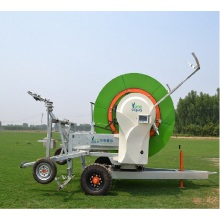 Water hose reel irrigation system for agriculture