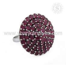Bijoux en pierres précieuses à la mode populaires Bijoux Ruby à la main