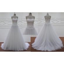 Chiffon Court Train Bridal Dress