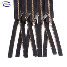 Economical Custom Design brand metal zipper custom zipper metal for jeans