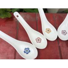 SP-1533 Haonai elegant ceramic spoon, ceramic soup spoon