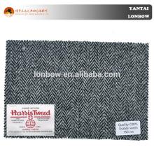 Hot selling fine quality grey herringbone woolen woven coat fabric