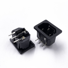 JEC 3 Pin C14 JR-101S-G-PC Inlet Module Plug Male Power Socket 10A 250V for Lab Equipment