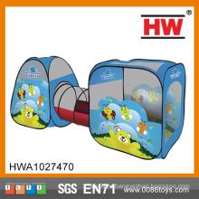 Новый дизайн крытый и открытый детей синий насекомых туннель палатки