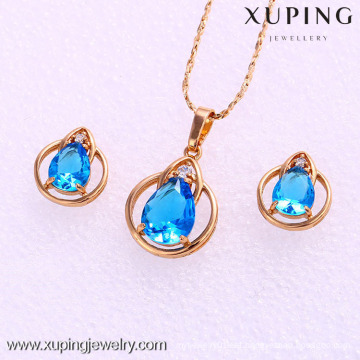 61976-Xuping Fashion Woman Jewelry Set with 18K Gold Plated