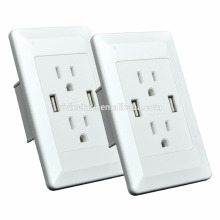 High-End 4.2A USB Receptacle, Four 2.4A USB Charging Outlets 4.2AMP/21W Total with Wall Plate