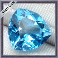 Очаровательный прозрачный швейцарский синий триллионный полудрагоценный природный топазный камень