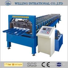 Maquinaria de construcción de máquinas de fabricación de paredes de chapa de acero galvanizado