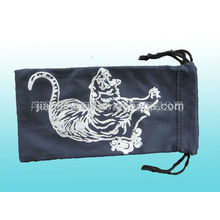 colored microfiebr pouch with logo print