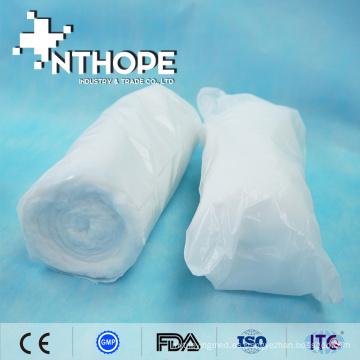rollo de vendaje de algodón absorbente desengrasado medicado