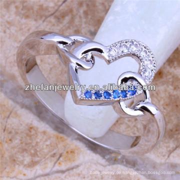Ring des Königreichherzenring-Mikrosatzes Diamantring-schönen