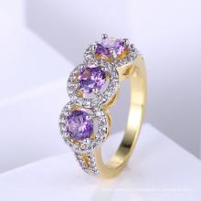 Bijoux twp plaqué tonalité populaire Anneau en or design pour femme