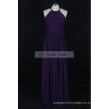 Custom Made Bridesmaid Dress Halter Chiffon Pleats Long Dresses Wedding Party 2016