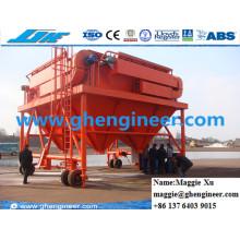 Machine de manutention de port de 40 cbm Collecteur de poussière Trémie mobile
