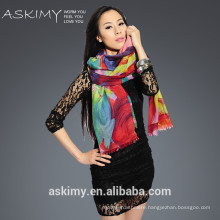 rainbow color 100% cashmere scarf
