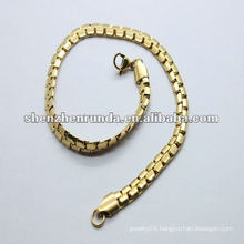 2012 popular simple stainless steel girls gold bracelets