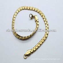 2012 popular simples aço inoxidável meninas ouro pulseiras