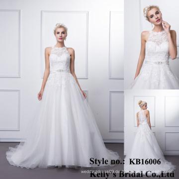Ankunftsschatzausschnitt wulstiges Ballkleid aliexpress Hochzeitskleider